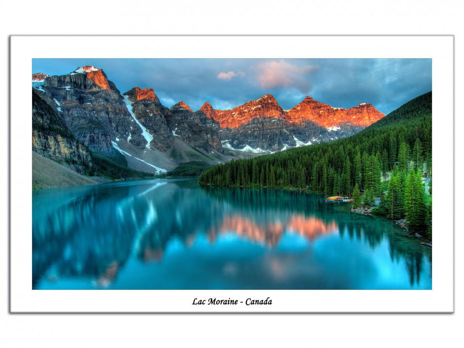 Tableau Aluminium decoratif paysage du Canada