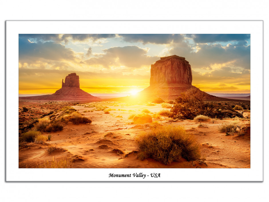 Tableau Aluminium photographie Monument Valley