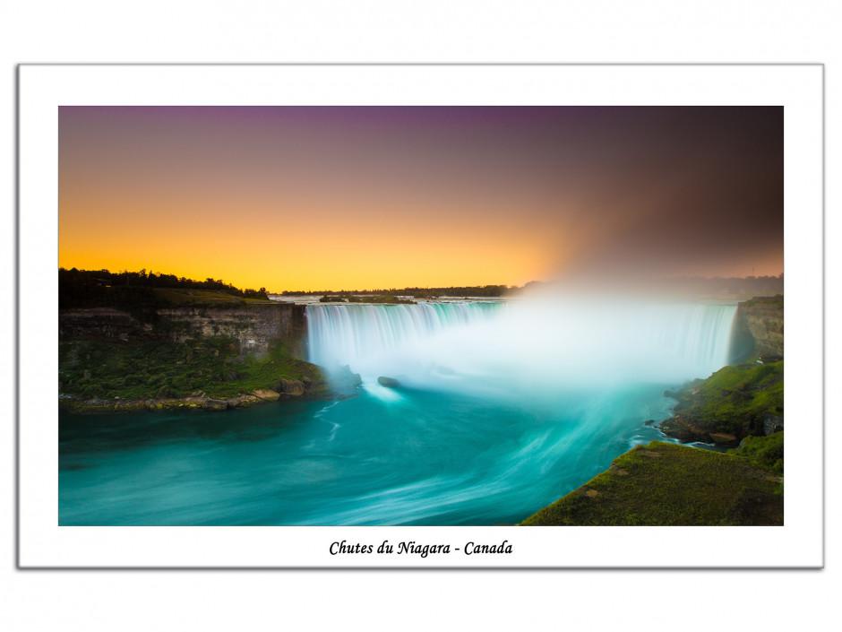 Tableau Aluminium photo des chutes du Niagara