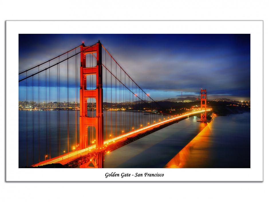 Tableau décoratif Aluminium Pont de San Francisco