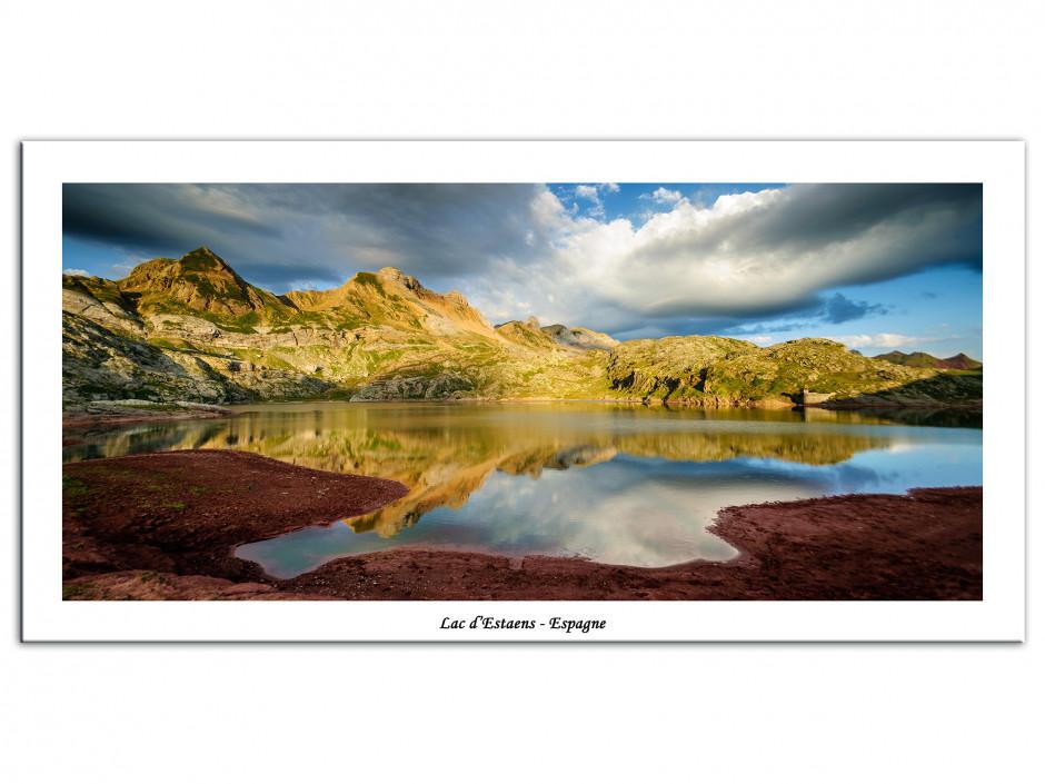 Tableau photo de montagne sur Aluminium Lac d'Estaens