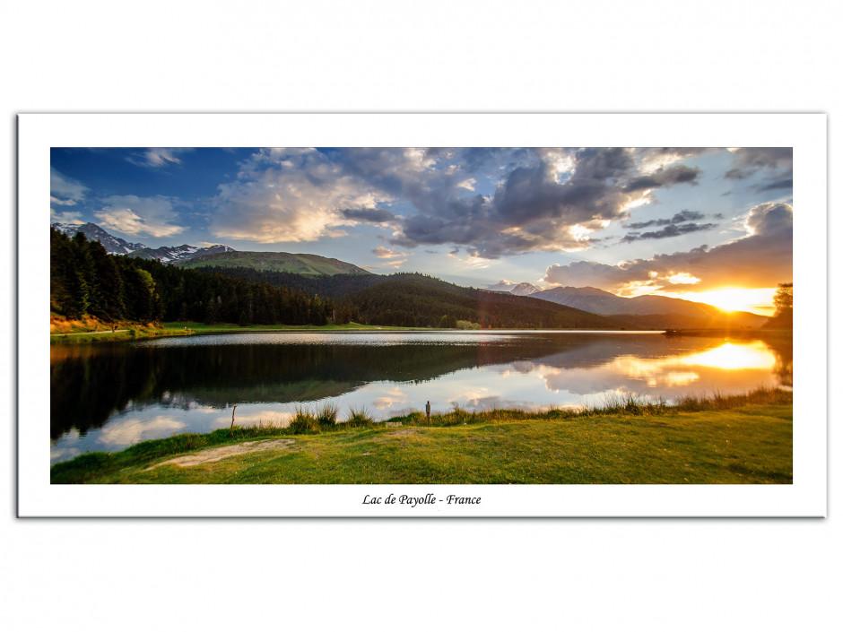 Tableau Aluminium paysage de montagne Lac de Payolle