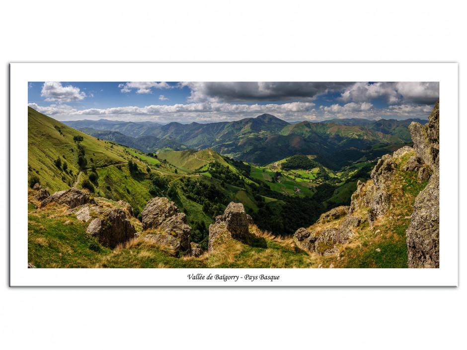 Tableau Aluminium paysages Montagne du Pays basque
