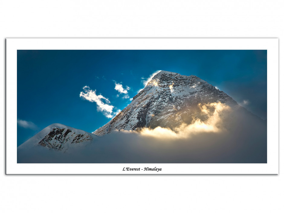 Tableau Aluminium paysage de montagne L'EVEREST