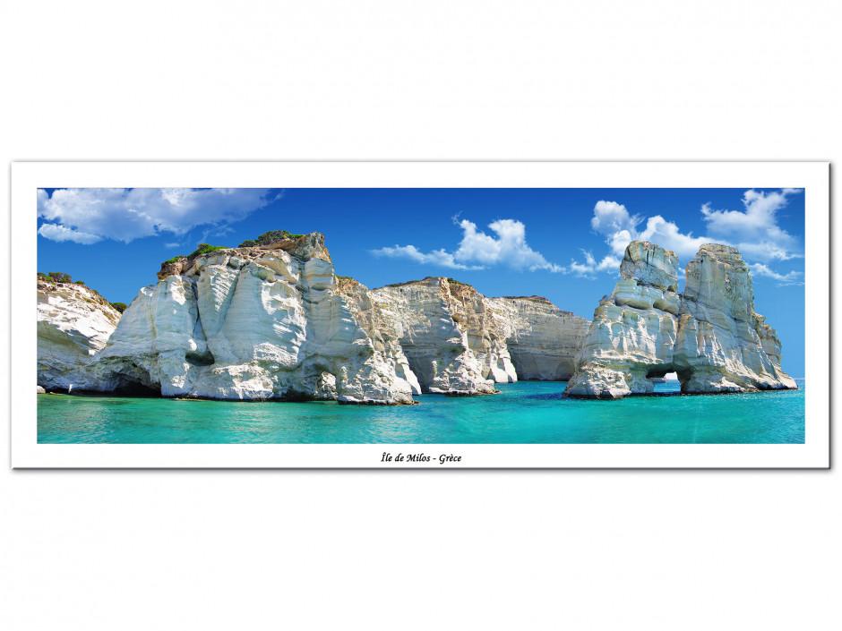 Tableau Aluminium panoramique Île de Milos
