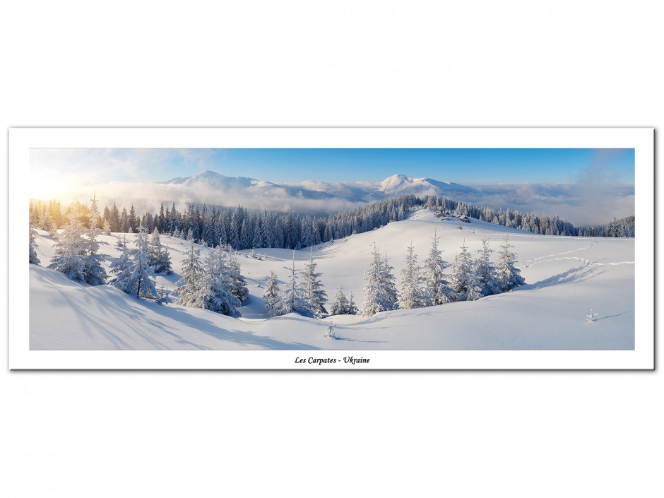 Tableau Aluminium panoramique LES CARPATES