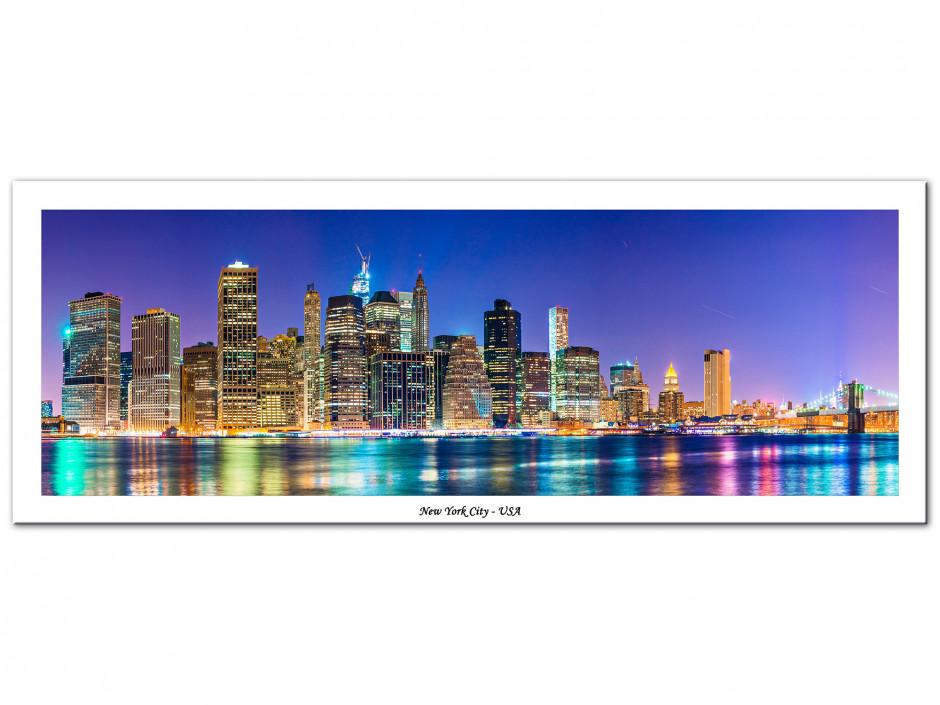 Tableau Aluminium panoramique NEW YORK