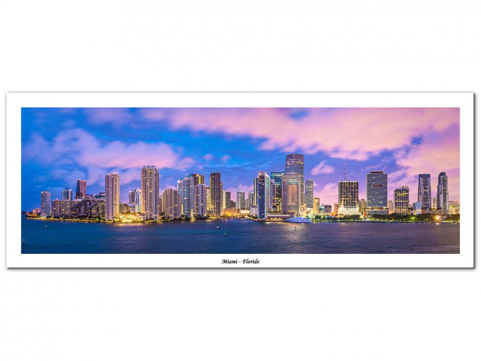 Tableau Aluminium panoramique MIAMI