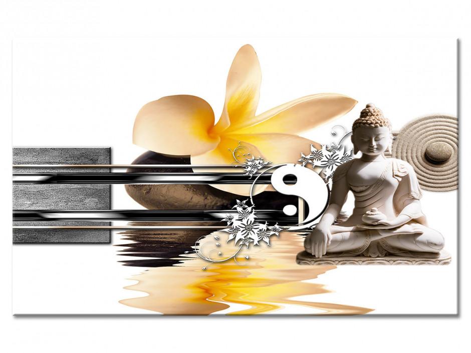 Tableau Aluminium bouddha YING ET YANG