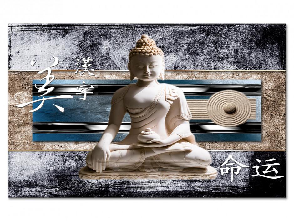 Tableau Aluminium deco zen BOUDDHA ET JAPON