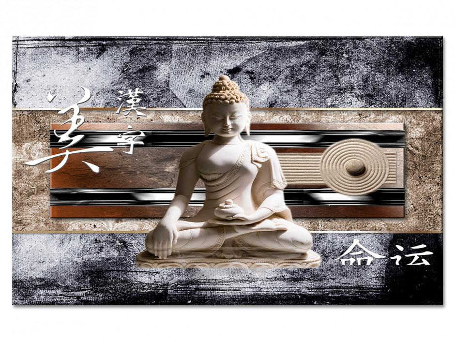 Tableau Aluminium zen STATUE DE BOUDDHA ASIATIQUE