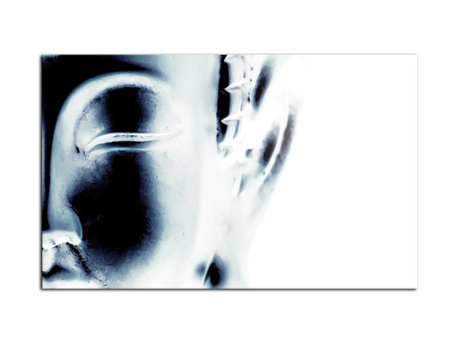 Tableau deco Aluminium Bouddha Noir et Blanc