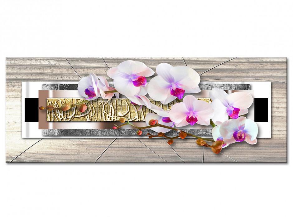 Tableau Aluminium panoramique deco ZEN ORCHIDÉES