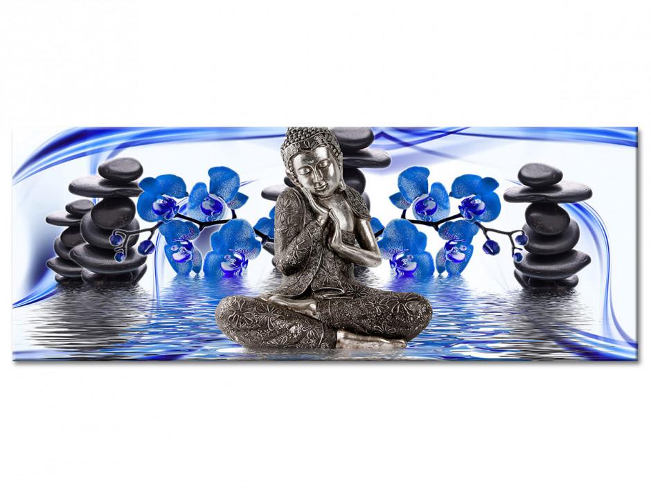 Tableau Aluminium panoramique déco bouddha ESPRIT ZEN