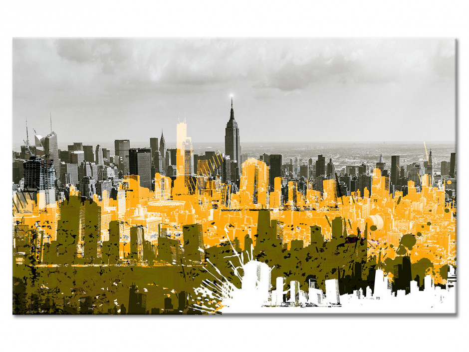 Tableau Aluminium design Manhattan Graffiti