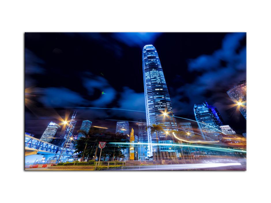 Tableau Aluminium deco design Hong Kong de nuit