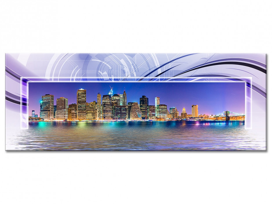 Tableau Aluminium design panoramique New York