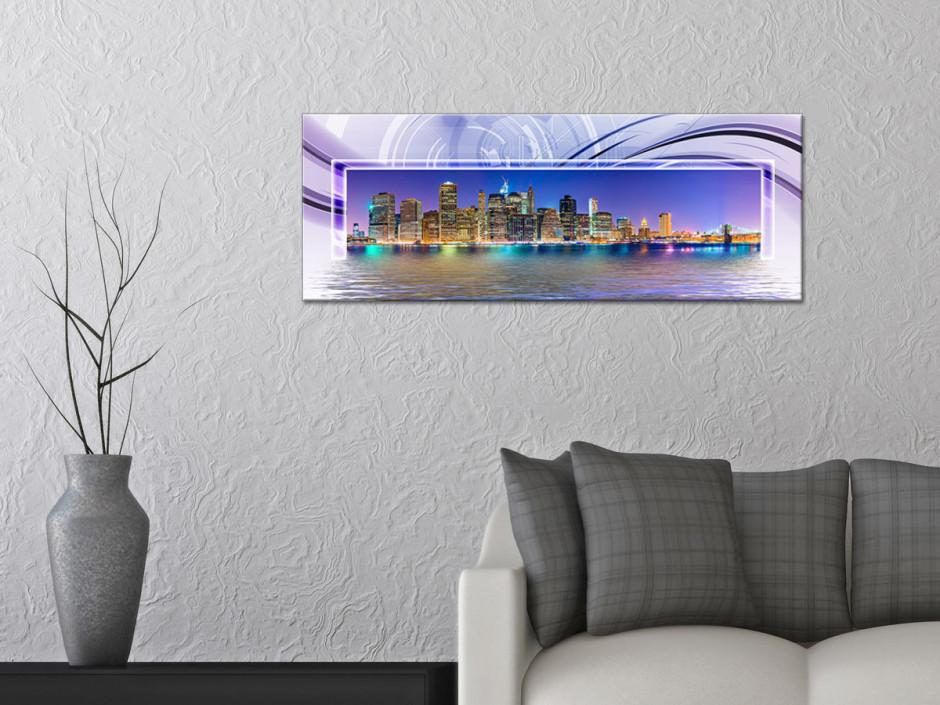 Tableau Aluminium design panoramique New York