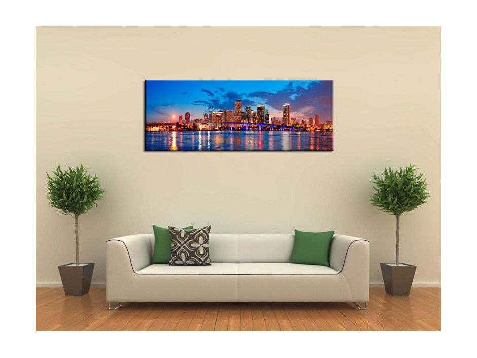 Tableau Aluminium decoratif panoramique sur Miami