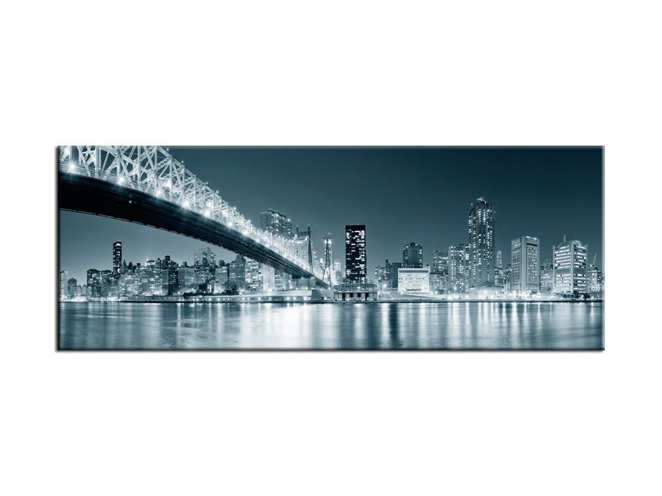 Tableau Aluminium deco panoramique sur New York