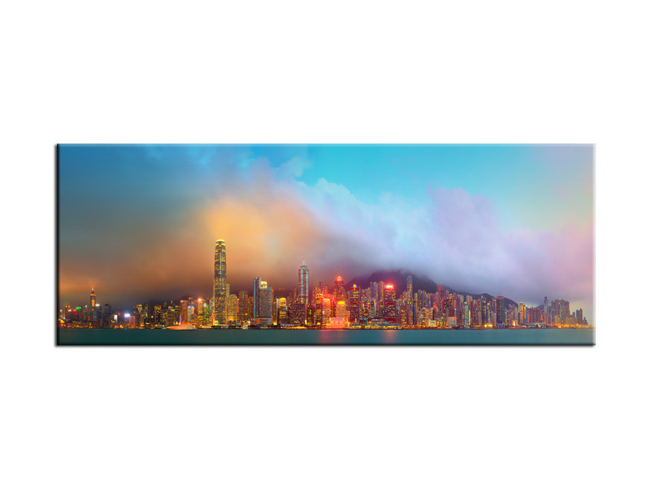 Tableau Aluminium deco panoramique Hong Kong