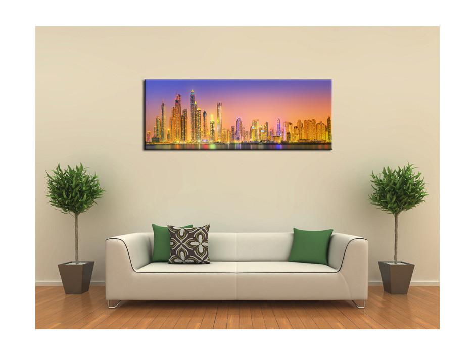 Tableau Aluminium déco panoramique Dubai