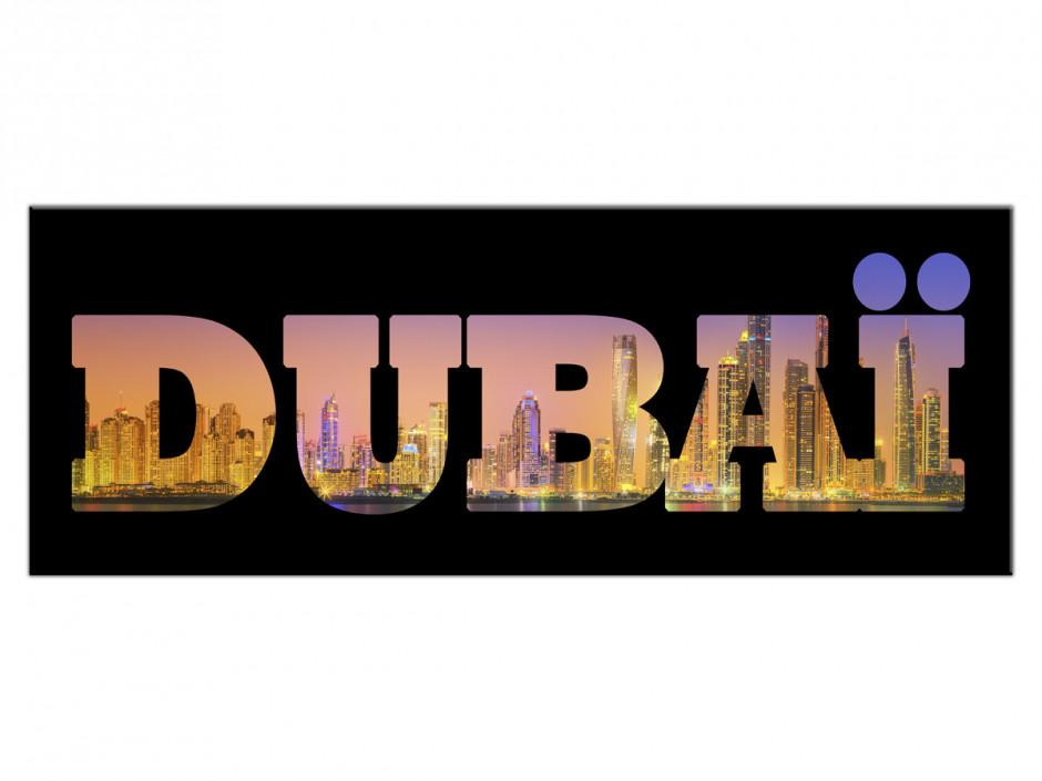 Tableau Aluminium deco lettrage Dubai