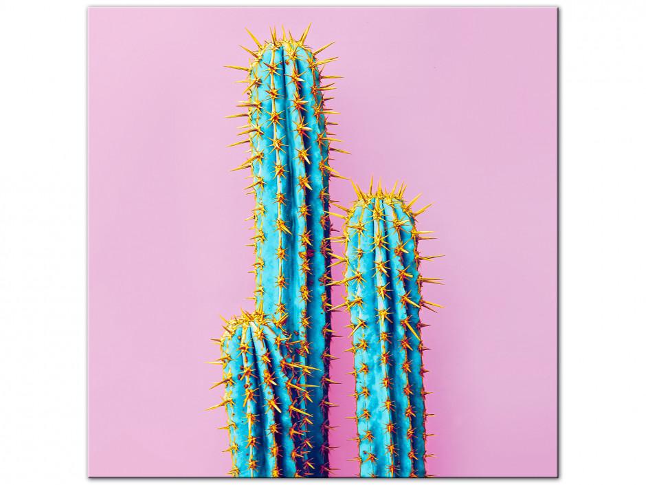Tableau Aluminium deco vintage Cactus