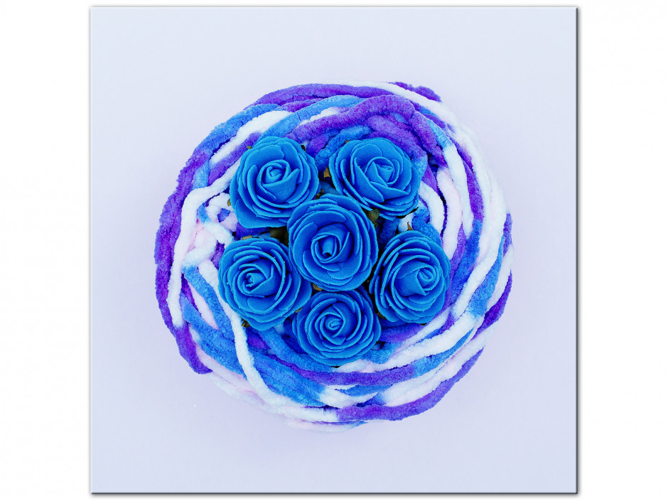 Tableau Aluminium de moderne Les roses bleu