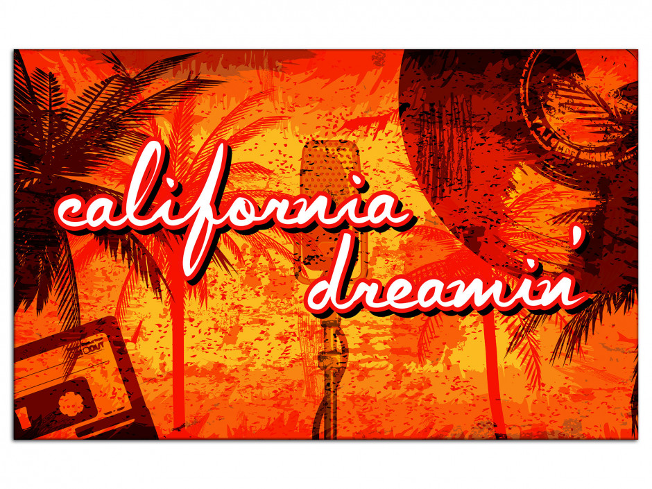 Tableau Aluminium California Dream