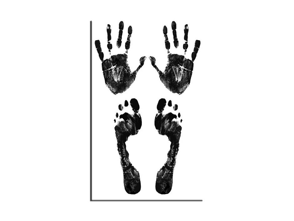 Tableau Aluminium noir et blanc l'origine de l'homme