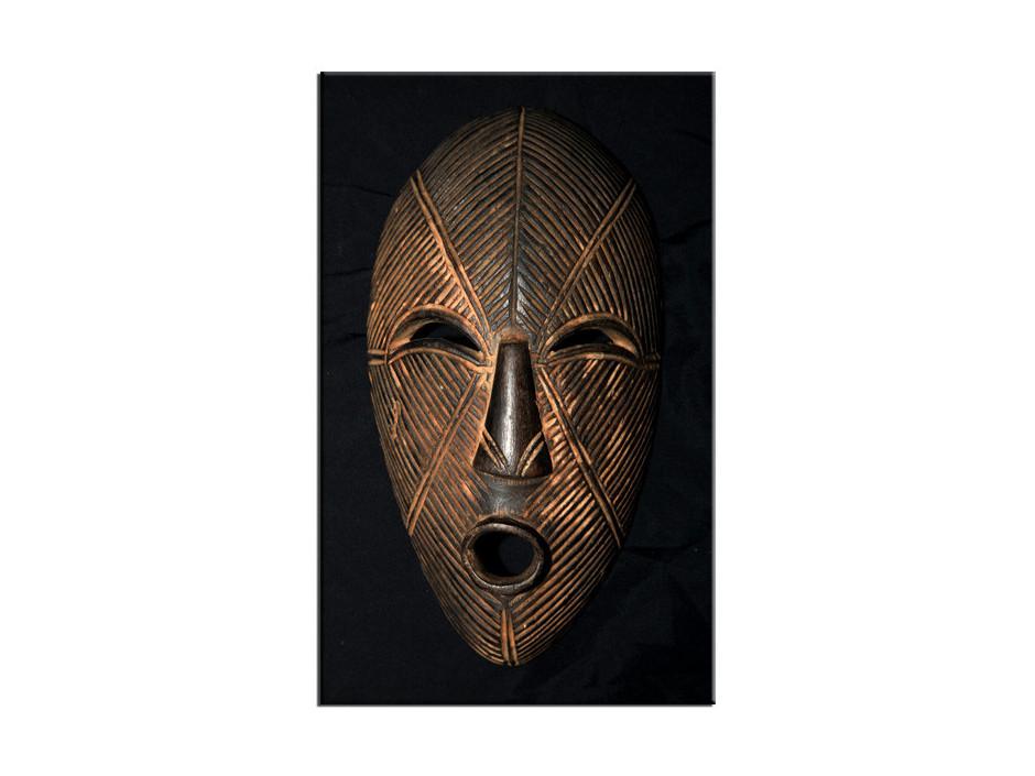 Tableau Photo Aluminium Masque Africain