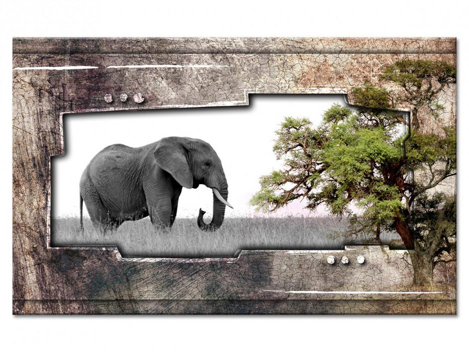 Tableau Aluminium deco Eléphant d'Afrique