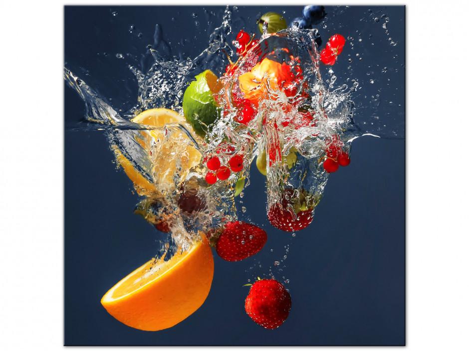 Cadre Aluminium carré déco de fruits