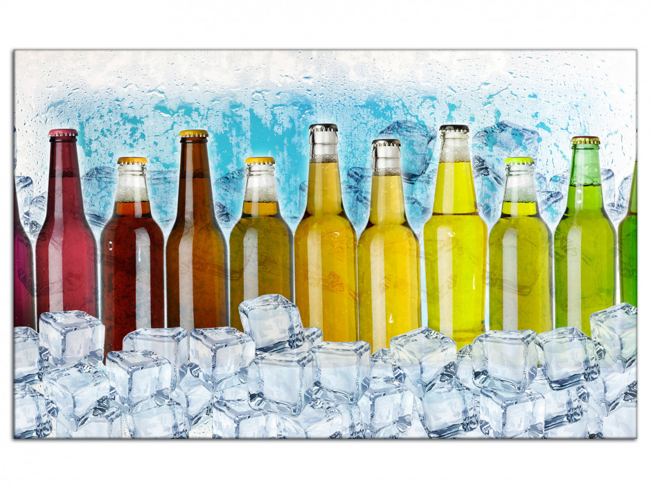 Cadre Aluminium déco moderne Les bouteilles de soda