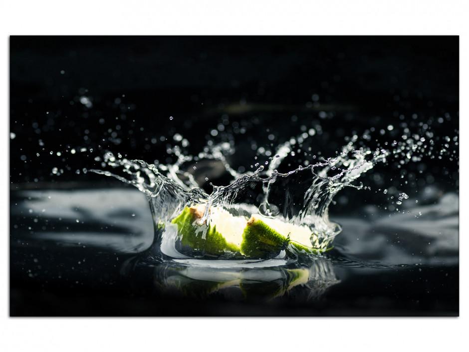 Tableau Aluminium deco photo Citron Vert