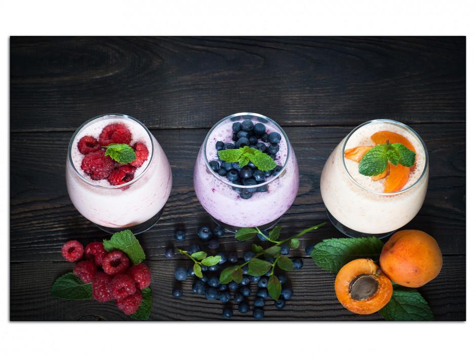 Tableau Aluminium deco Yahourt aux Fruits