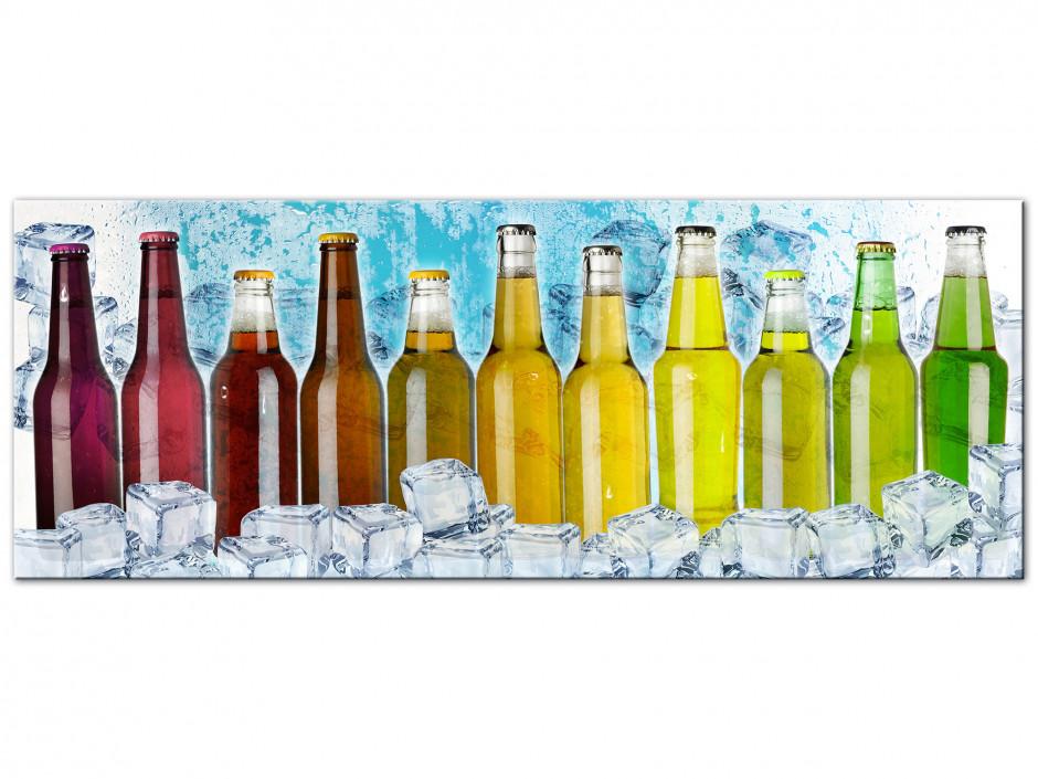 Tableau Aluminium deco cuisne bouteille colorées