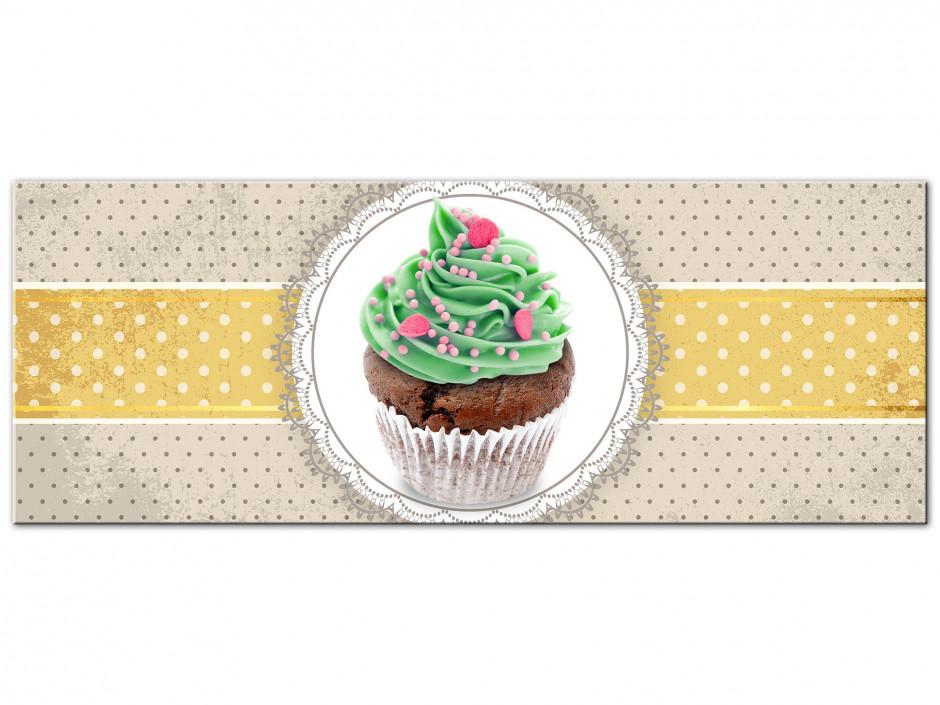 Tableau Aluminium decoratif cuisine le Cupcake