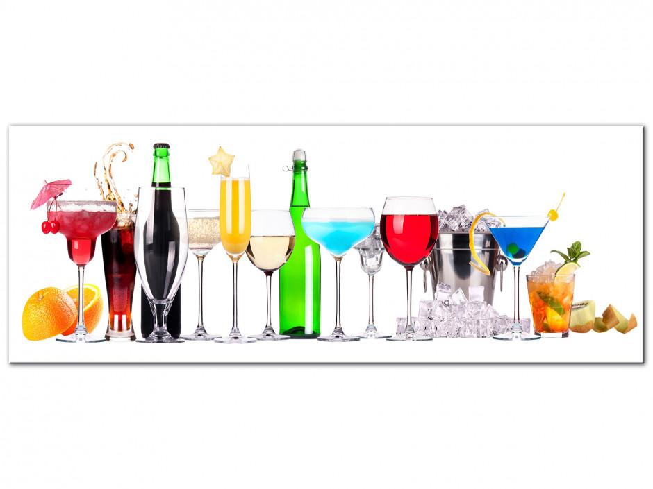 Tableau Aluminium cuisine panoramique Cocktail