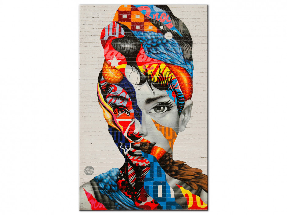Tableau Aluminium deco moderne design visage femme