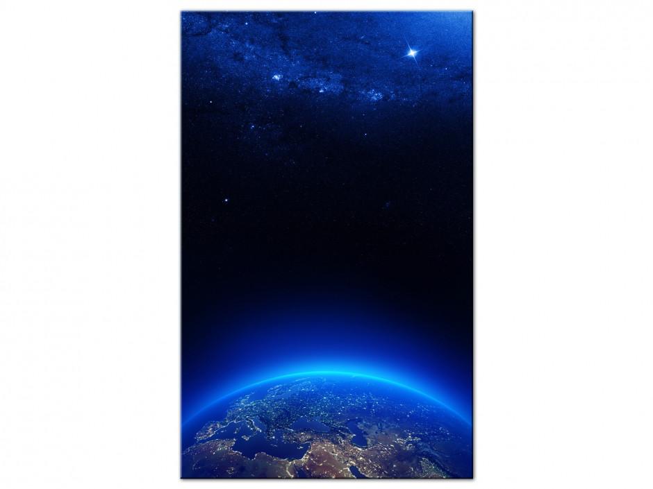 Tableau Aluminium deco La Terre vu du ciel