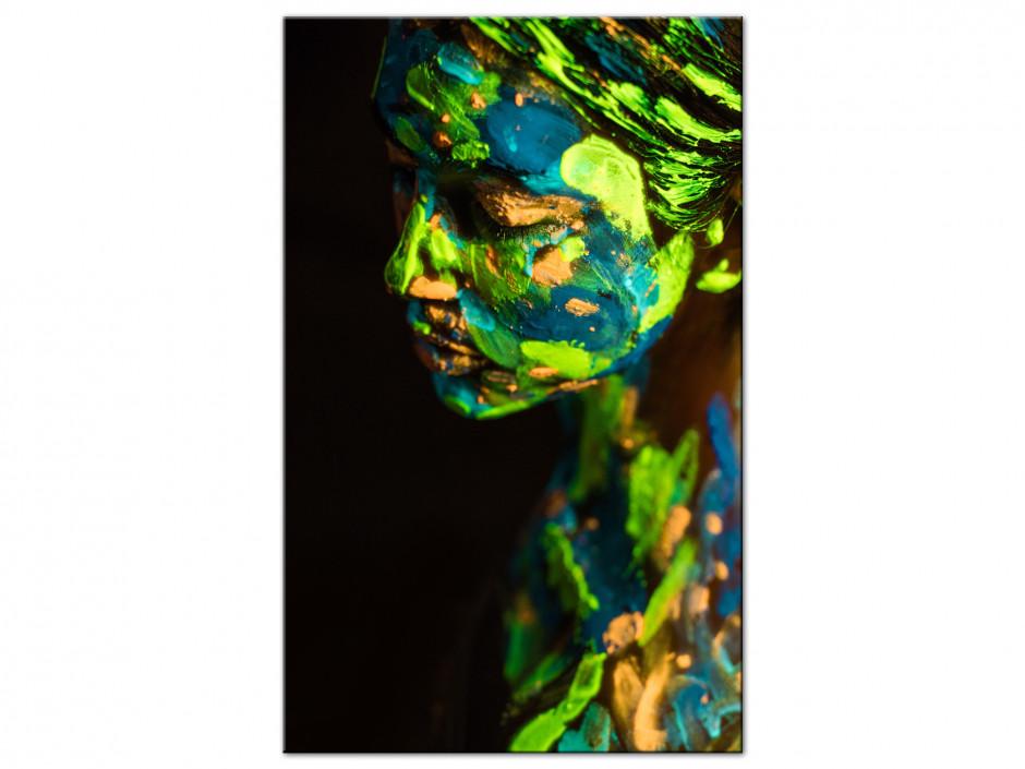 Tableau Aluminium design moderne Femme Peinture