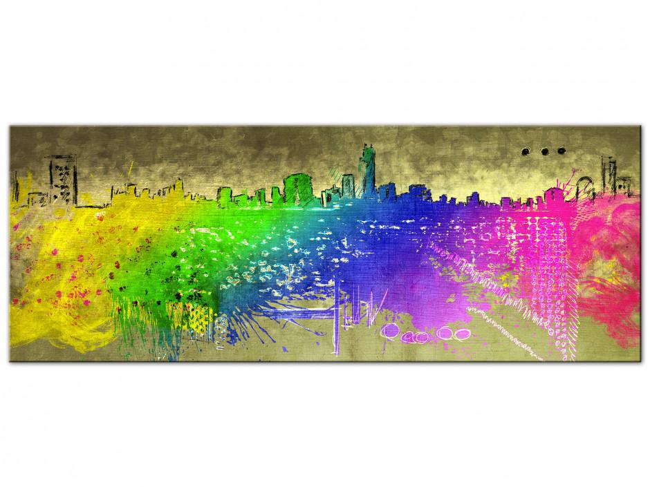 Tableau Aluminium decoratif City Color