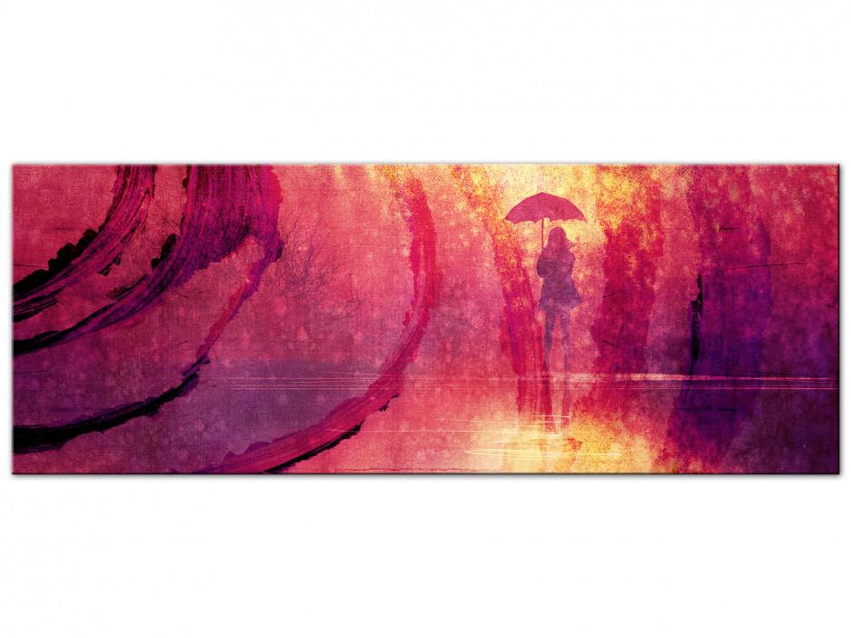 Tableau deco Aluminium panoramique sous la pluie