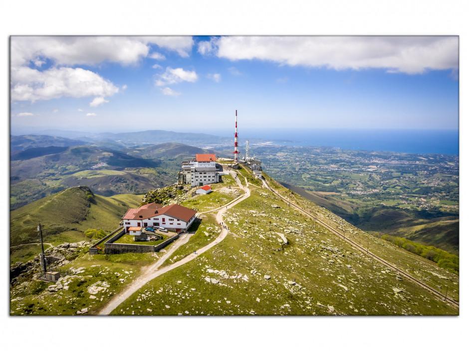 Tableau Aluminium photo paysage La Rhune Pays Basque