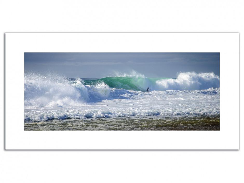 Tableau Aluminium deco surf océan Hossegor