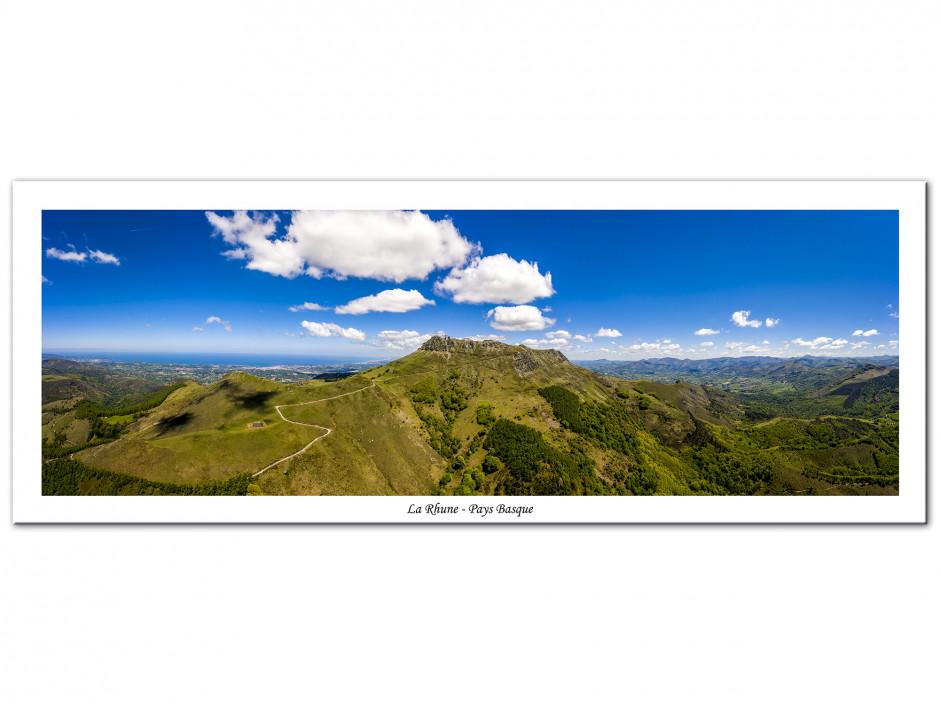 Tableau Aluminium déco paysage panoramique La Rhune