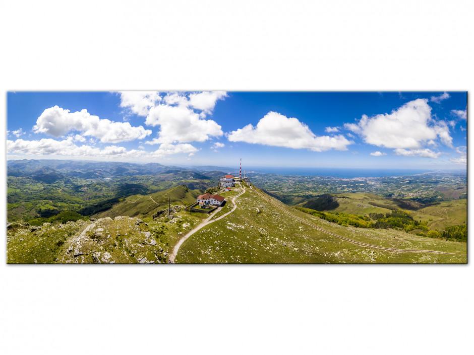 Tableau Aluminium panoramique La Rhune Pays Basque