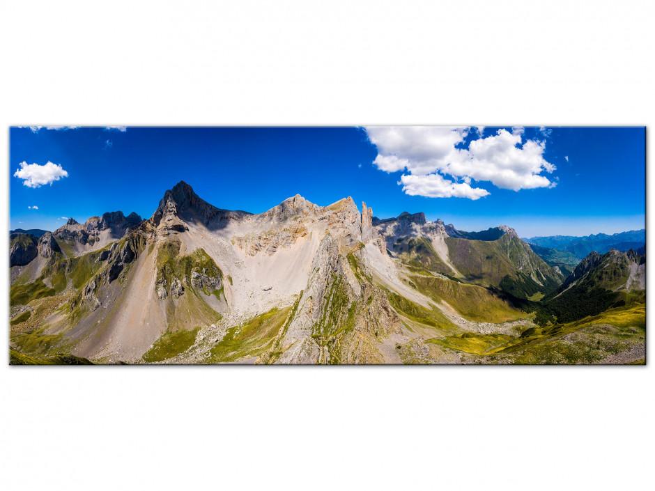 Tableau Aluminium photo panoramique les Aiguilles d'Ansabère